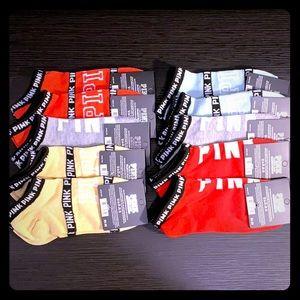 10 pairs of pink/vs socks NWT